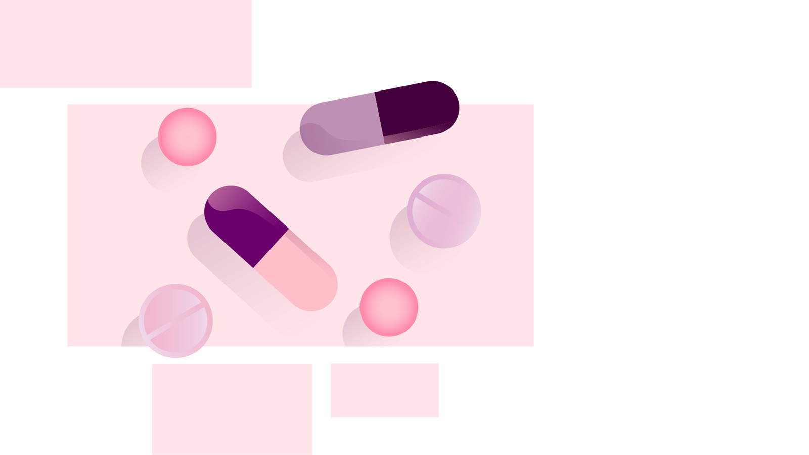 Illustration of a range of medication